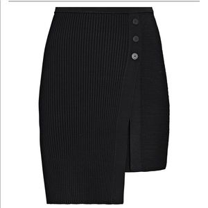 Jonathan Simkhai Emily asymmetrical black skirt M